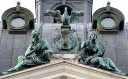 Bronze symbolic sculpture . Solomiya Krushelnytska Lviv State Royalty Free Stock Images