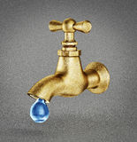 Bronze tap Royalty Free Stock Photo