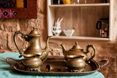 Bronze tea and coffee service Royalty Free Stock Image
