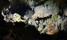 Bronze Thai Buddha in cave, Vang Vieng. Laos Royalty Free Stock Image