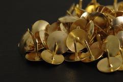 Bronze thumb tacks Royalty Free Stock Image