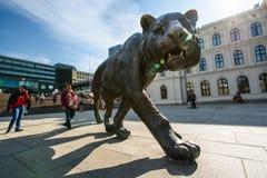 Bronze tiger Stock Photos