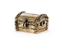 Bronze treasure chest Stock Photography