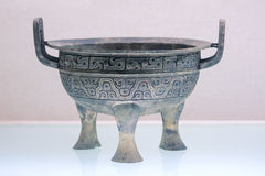 Bronze tripod. The close-up of Chines ancient bronze tripod Stock Images