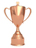 Bronze trophy cup on white. Background. High resolution 3D image Royalty Free Stock Photo