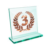 Bronze trophy for third Stock Image