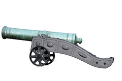Bronze Turkish cannon on cast iron carriage Royalty Free Stock Image