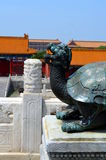 Bronze turtle in the imperial palace which stands for power and long life, Forbidden city in Beijing Stock Photo