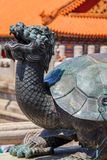 Bronze turtle near the Gate of Supreme Harmony Stock Images