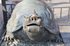 A bronze turtle statue in the Forbidden City, Beijing, China Royalty Free Stock Photography