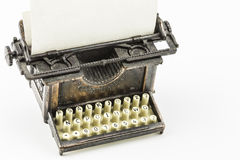Bronze Typewriter Minature Royalty Free Stock Photo