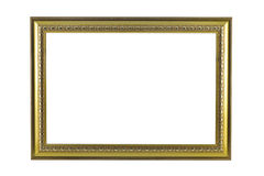 Bronze-und Goldfeld lokalisiert auf weißem Hintergrund stockbild