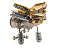 Bronze- und Stahlteile Lizenzfreies Stockbild