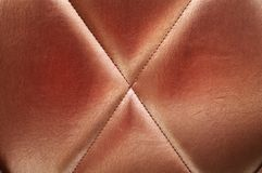 Bronze upholstery leather background Stock Image
