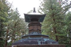 Bronze urn containing remains of Tokugawa Ieyasu. Tomb of Tokugawa Ieyasu in Tosho-gu shrine in Nikko Royalty Free Stock Photography