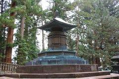 Bronze urn containing remains of Tokugawa Ieyasu. Tomb of Tokugawa Ieyasu in Tosho-gu shrine in Nikko Stock Photography