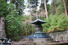 Bronze urn containing remains of Tokugawa Ieyasu. Tomb of Tokugawa Ieyasu in Tosho-gu shrine in Nikko Stock Photos