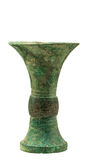 Bronze vase with. Ancient Chinese bronze ware production elegant, artistic value is the highest in the world bronze ware, its peculiar modelling, decorative Stock Photo