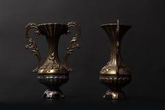 bronze vasen Arkivfoto