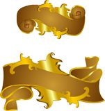Bronze Victorian scroll banners Stock Image