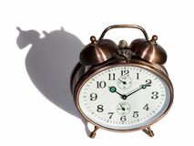 Bronze vintage alarm clock Royalty Free Stock Photography