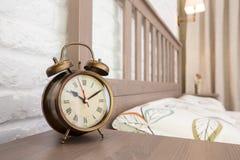 Bronze vintage alarm clock Royalty Free Stock Photo