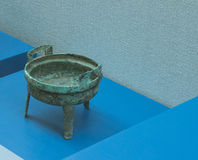 Bronze ware. Bronze refers to bronze vessels made of as the basic raw material processing and, with the device, etc. Is gold or bronze, called JiJin, copper and Stock Image
