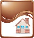 Bronze wave background brick house Stock Photos