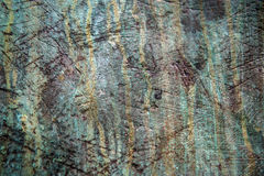 Bronze weathered verdigris Stock Photography