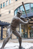 Bronze Willie Stargell. Bronze Statue of Left-handed Batter and Pittsburgh Pirate Willie Stargell in Front of Heinz Field Stadium in Downtown Pittsburgh Royalty Free Stock Photos