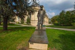 Bronze-Winston Churchill-Statue am Petit Palais in Paris, Frankreich lizenzfreie stockbilder