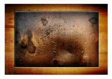 Bronze and wood Royalty Free Stock Images