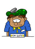 Bronzeado doente do empregado descascado Fotografia de Stock Royalty Free
