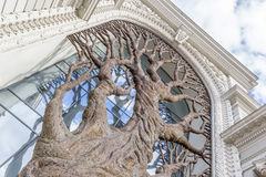 Bronzebaum auf dem des Kasans Landwirtschaftsministerium lizenzfreies stockfoto
