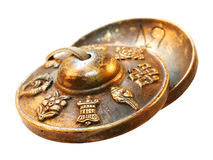 Bronzebecken - Mitschwingenkörper lizenzfreie stockbilder