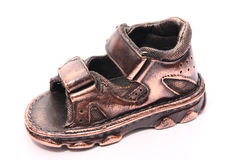 Bronzed baby shoe Royalty Free Stock Images