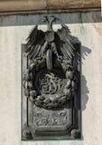 Bronzeentlastungsdoppelköpfiger adler, Hofburg-Palast, Wien stockfotografie