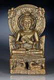 Bronzefigürchen des Sitzens von Buddha Lizenzfreie Stockfotografie