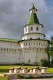 Bronzekanonen und Damaskus-Turm - neues Jerusalem-Kloster Stockbilder