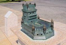 Bronzekopie von Belem-Turm Lizenzfreie Stockfotos