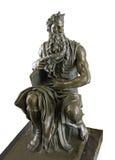Bronzekopienskulptur von Mosese durch Michelangelo Stockfoto