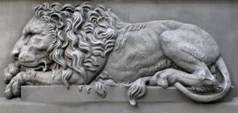 Bronzelöwe Stockbilder