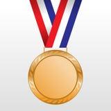 Bronzemedaillengewinner auf dem Band Stockbild