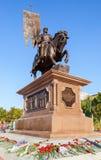 Bronzemonument zum Gründer von Samara Prince Grigory Zasekin Stockfotos