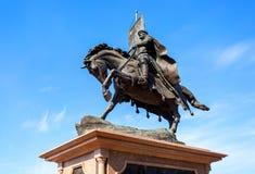 Bronzemonument zum Gründer von Samara - Prinz Grigory Zaseki stockbilder
