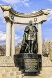 Bronzemonument zum russischen Kaiser Alexander das zweit- der Befreier stockfotos