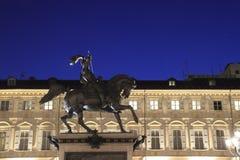 Statue in Turin-Hauptplatz Lizenzfreie Stockfotografie