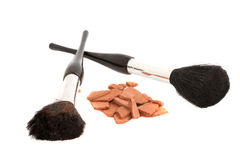 Bronzer and brushes Royalty Free Stock Photography