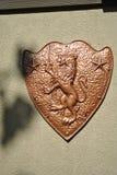 Bronzeschild Stockfoto