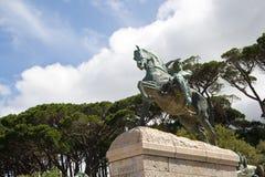 Bronzestatue, Rhodes Memorial Lizenzfreies Stockfoto